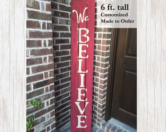 Christmas Sign Wood, Wood Christmas Sign, Christmas Wood Decor, Christmas Decor, Christmas Sign, Holiday Sign, Holiday Decor, We Believe