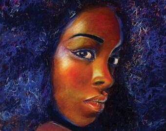 Afro Blue - Afro Art Print