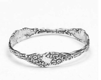"Spoon Bangle Bracelet: ""Daisy"" by Silver Spoon Jewelry"