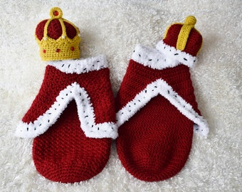 Twin King and Queen Crowns with Royal Capes, Newborn Photo Props, Christmas Sets