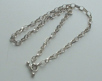 Sterling silver tbar chain