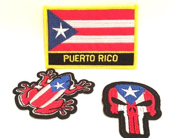 Puerto Rican 3pc Limited edition Boricua Iron on & sew on patches