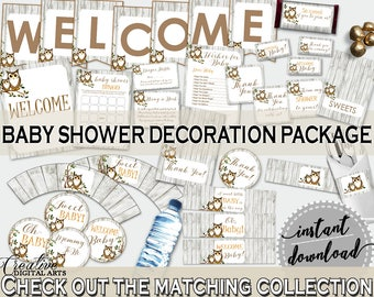 Decorations Baby Shower Decorations Owl Baby Shower Decorations Baby Shower Owl Decorations Gray Brown instant download, pdf jpg 9PUAC