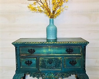SOLD - Hand Painted Buffet Side Server