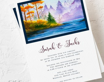 Wedding Invitations - Nature's Landscape & Us (Style 13767)
