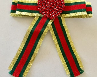 Gold, Green and Red - Gucci Inspired Bowtie