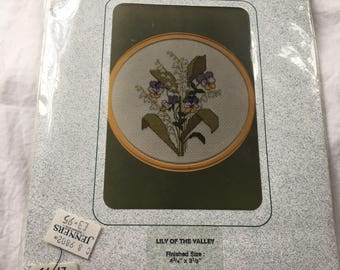 """Counted Cross Stitch Kit """"Lily of the Valley"""" by Sarah May Designs"""