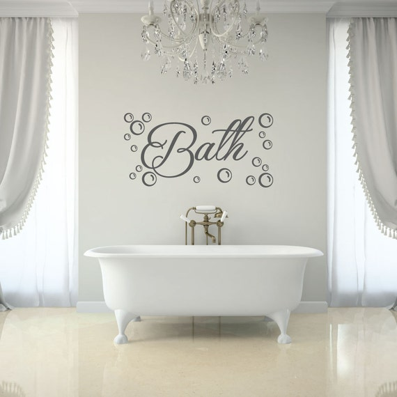 Bathroom Decal   Bath With Bubbles Wall Decal   Bathroom Wall Decal   Bathroom  Wall Decor   Bathroom Decor   Wall Decals   Wall Stickers
