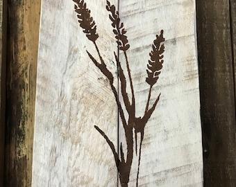 Pallet wall decor, wall decor, pallet sign, wall pallet sign, wheat painting, flower painting, wheat art