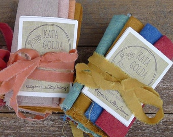 craft supply: plant-dyed hemp/organic cotton canvas in bold and soft colors, by kata golda