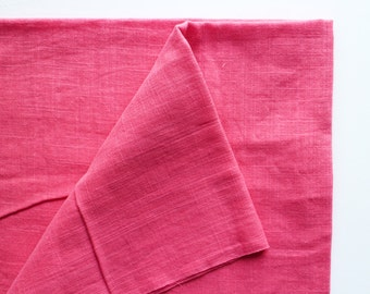 cotton double gauze fabric. soft japanese pure cotton fabric. 102cm (40in) wide. sold by 50cm (19in) long / half yard. hot pink