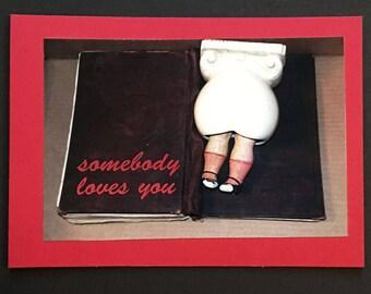 Original Valentine Card; Color Photo Still Life