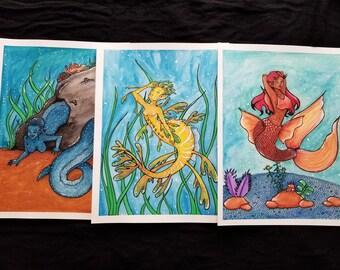 Mermaid Art Prints