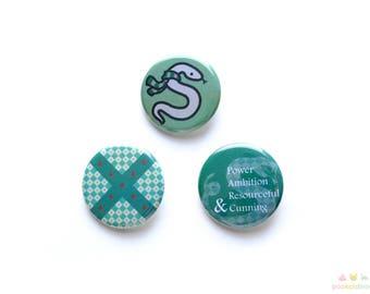 Slytherin Button Set