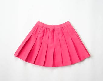 90s Pleated Mini Skirt 1990s Barbie Pink Lilys Of Beverly Hills Tennis Skirt Sporty Pastel Goth Athletic Soft Grunge Punk Kawaii Extra Small