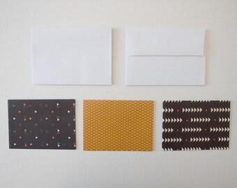 stationary cards, stationery set, blank cards, blank note cards, note card set, modern stationary, geometric stationery, note cards