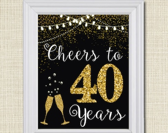 Cheers To Fifty Years Cheers To 50 Years 50th Wedding Sign