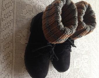 Knit leg warmers, Women's Accessories, Boot Topper, Knitted Boot Cuffs