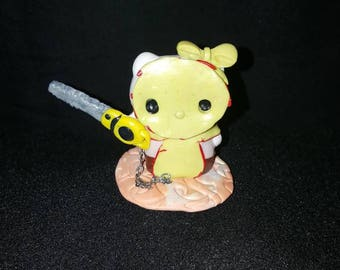 Hello kitty nightmare leatherface Texas chainsaw massacre hand made figure