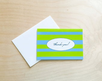 Thank you cards, Cute note card set, Thank you notes, thank you card set, Thank You Notecards, cards with envelopes