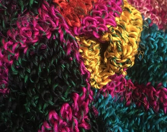 Sari Silk Crocheted Scarf