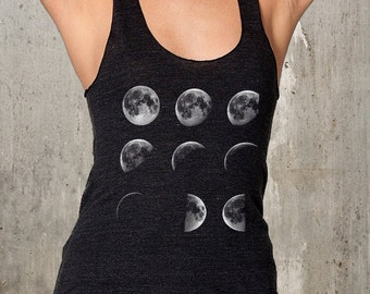 Women's Tank Top - Moon Phases - Women's Racerback Tank Top - American Apparel Tri-Blend Tank - Available in XS, S, M, L