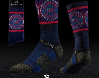 Fortified Nation Strideline Crew Socks - Red White Blue