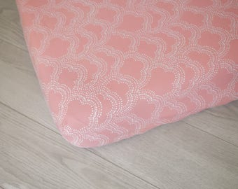 Organic Changing Pad Cover | Pink Clouds
