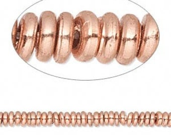 Copper (solid) Rondelle Spacers
