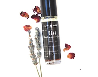 Devi... a sexy essential oil perfume with notes of lavender, orange, ylang ylang and sage