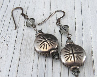 Sterling Silver Earring, Swarovski Crystal