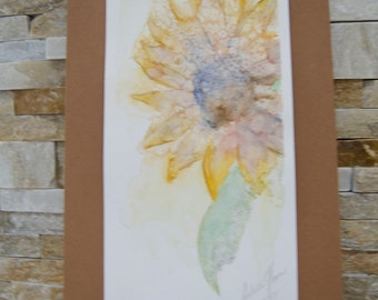 Sunny Sunflower Watercolor Painting