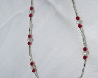 Sparkles with Red and Pearls