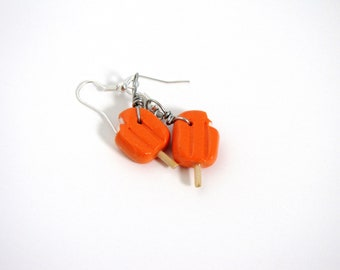 Cute Polymer Popsicle Earrings, Colorful Summer Popsicle Dangle Earrings, Camping BBQ Earrings