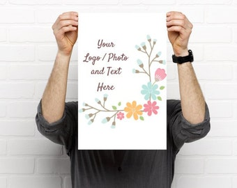 """11"""" x 17"""" Small Poster Use Own LOGO or PHOTO Design Custom Personalized Quantities 1-200"""