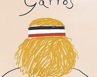 1981 Roland Garros French Open Tennis Poster A3 Print