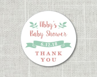 Baby Shower Stickers, Thank You Baby Party Stickers, Baby Shower Stickers For Favors, Baby Party Labels