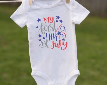My First 4th of July Outfit / Patriotic Baby / Fireworks Outfit / Baby's First 4th of July / Patriotic Baby Outfit / Baby Girl / Baby Boy
