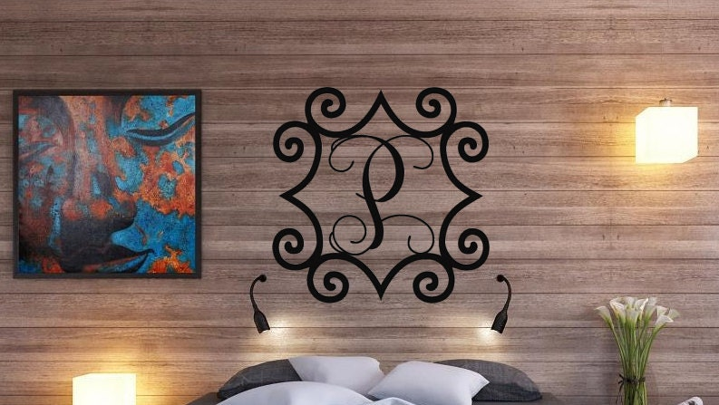 Large 3248 Wrought Iron Inspired Wall Art with