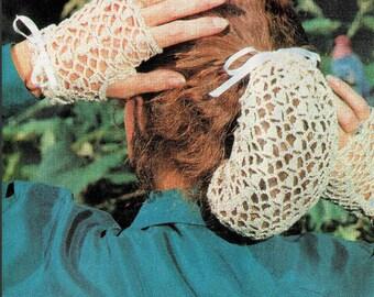 Vintage Crochet Pattern Womens Victorian Lace Snood & Fingerless Gloves Set PDF Instant Digital Download Fishnet Hair Holder Hairnet