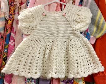 Handmade Knit Dress 9/12 Months