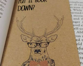 Stag bookmark with tassel