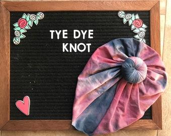 Pink and Blue Tye Dye Knot