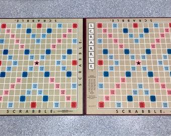 2 Vintage  Scrabble Gameboards -  2 different  colors