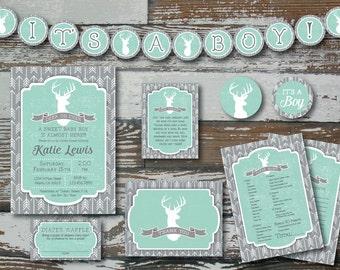 Deer and Arrow Baby Shower - printable DELUXE kit