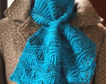 knitting pattern lace knit cowl scarf pdf knitting pattern cowl scarf neckwarmer - Lagoon Hand Knitting PDF Neck Warmer pattern
