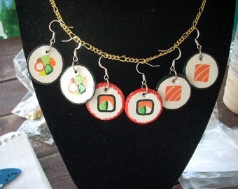 Sushi Earrings
