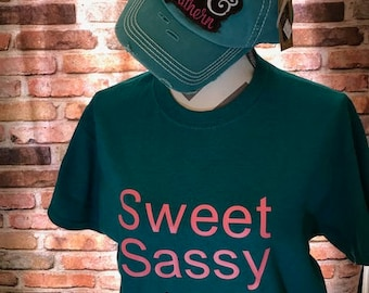 Sweet Sassy and Southern Tee and Cap