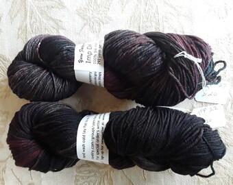 Custom hand dyed Superwash Merino wool yarn DK weight