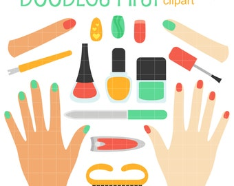 manicure clipart etsy rh etsy com manicure clip art free manicure clipart black and white